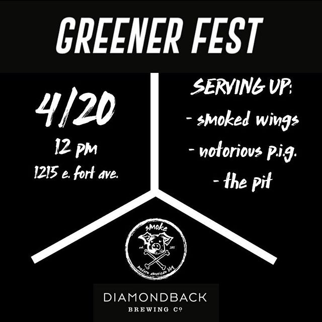 catch the smoke dawgs at #greenerfest19 for #420 🙌💨🍺 __________ featuring special @dbcbeer beer releases 🍺, over six hours of live music 🎸+ proceeds benefiting @balt_treetrust 🌳 __________ this event is FREE to enter 🙌 - just sit back, enjoy the music 🎶 + food 🍴 + celebrate 4/20 with us!  12-10pm. 🕛 Must be 21+ to attend. 🍺
