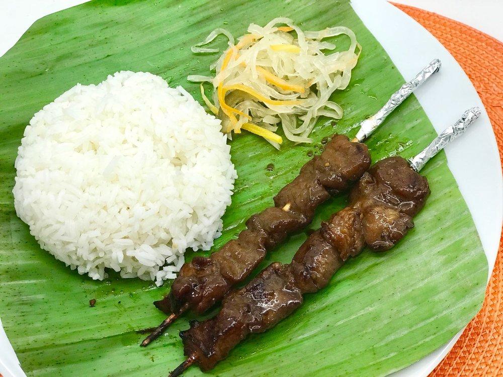 Filipino_Grilled Pork (Inasal) Platter w Leche Flan.jpeg