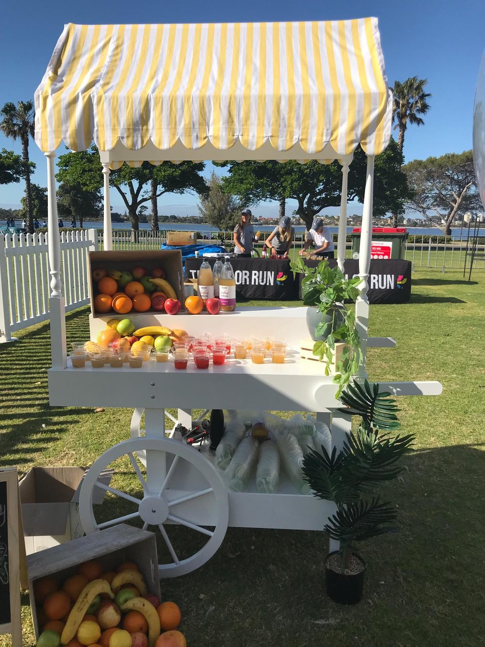 Little Lolly Cart used by Mojo Beverages at the Perth Color Run in Langley Park