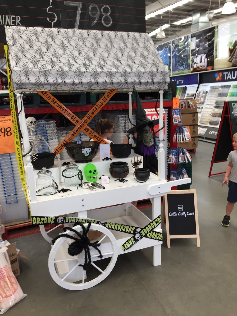 Little Lolly Cart's Halloween Setup at Bunnings Harrisdale