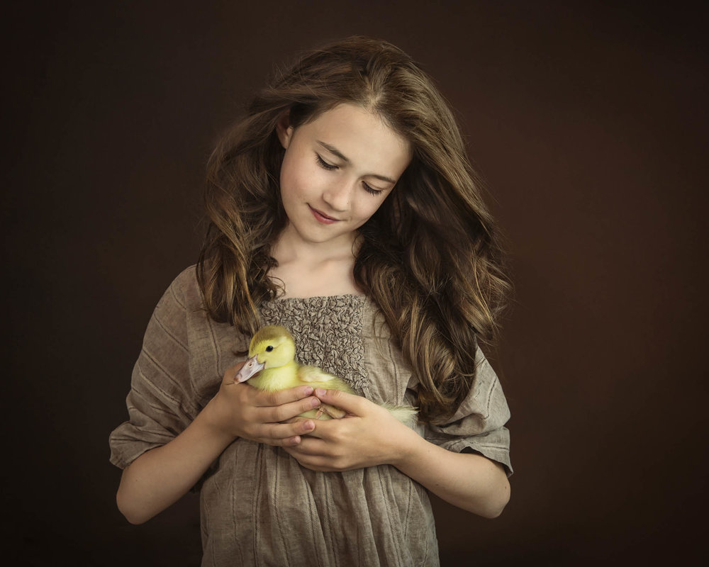 04-alana-lee-girl with duckling_golden harvest_ICP.jpg
