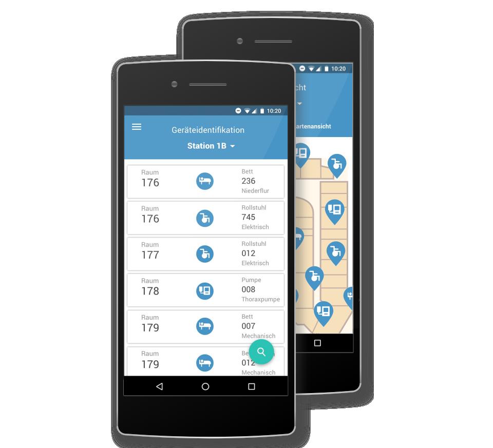 Geräte Tracking - Echtzeitlokalisierung aller Objekte.