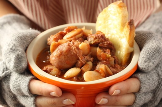 Toulouse sausage & butterbean hotpot