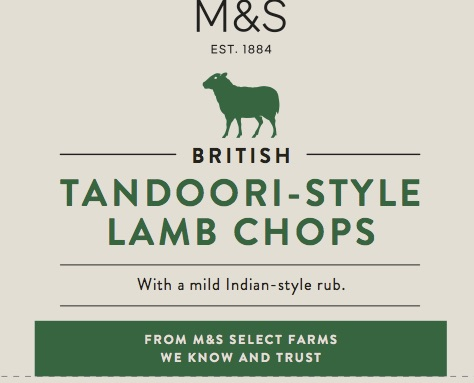 Tandoori style lamb chops