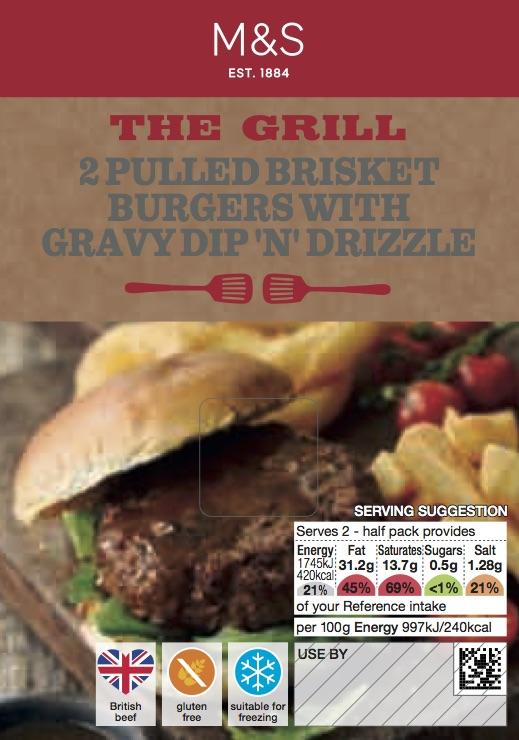 Pulled Brisket Burgers