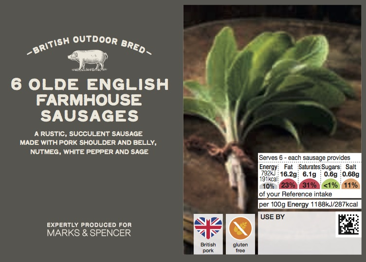 Olde English Farmhouse Sausages
