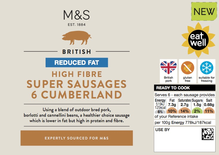 Super sausages cumberland sausages