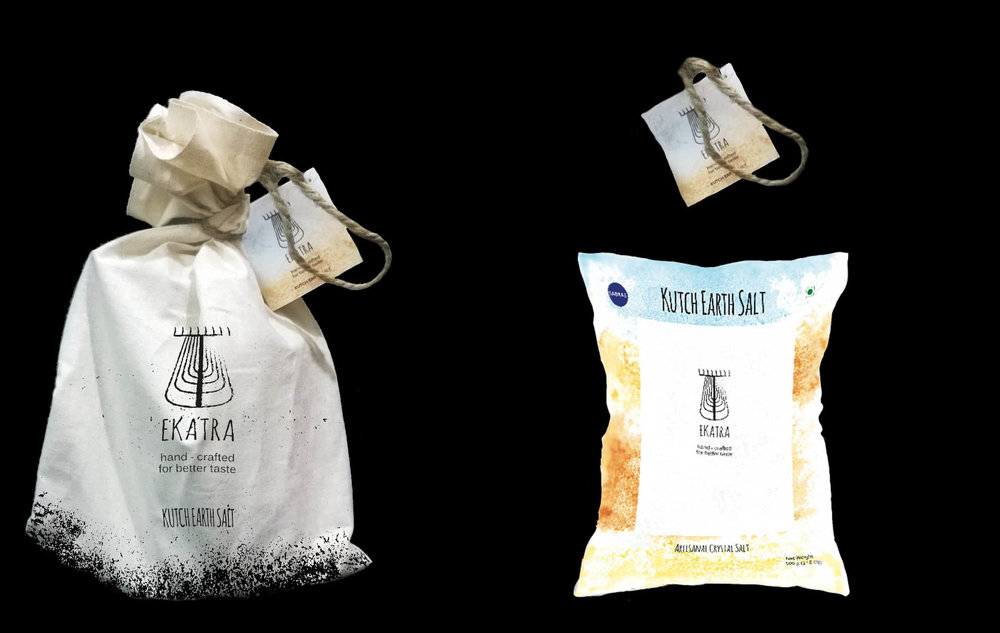 The salt products would be hand packaged by the Agariya community; Providing an additional source of income.