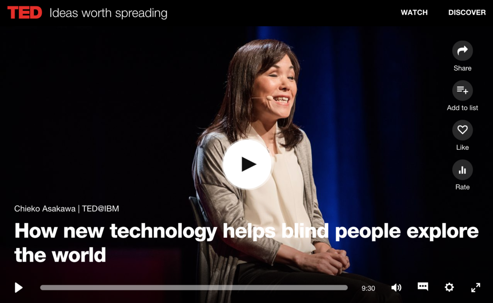 How new technology helps blind people explore the world