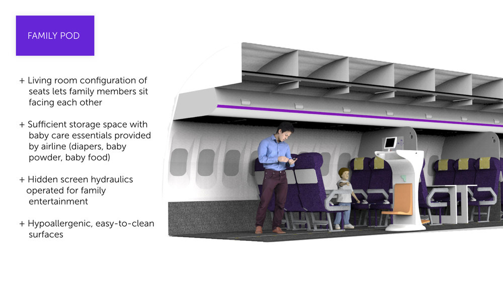 Familiair's aircrafts are designed with families in mind. The facing seats, access to on-board essentials, and open floor space invite families to truly travel together.