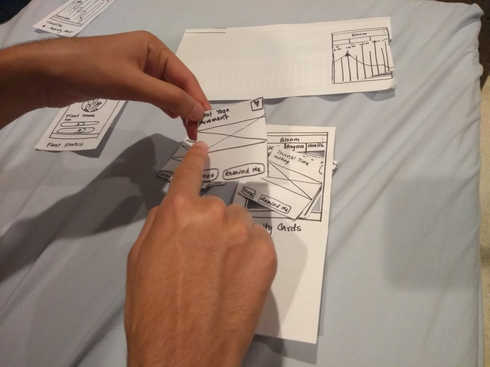 Testing features with paper prototypes