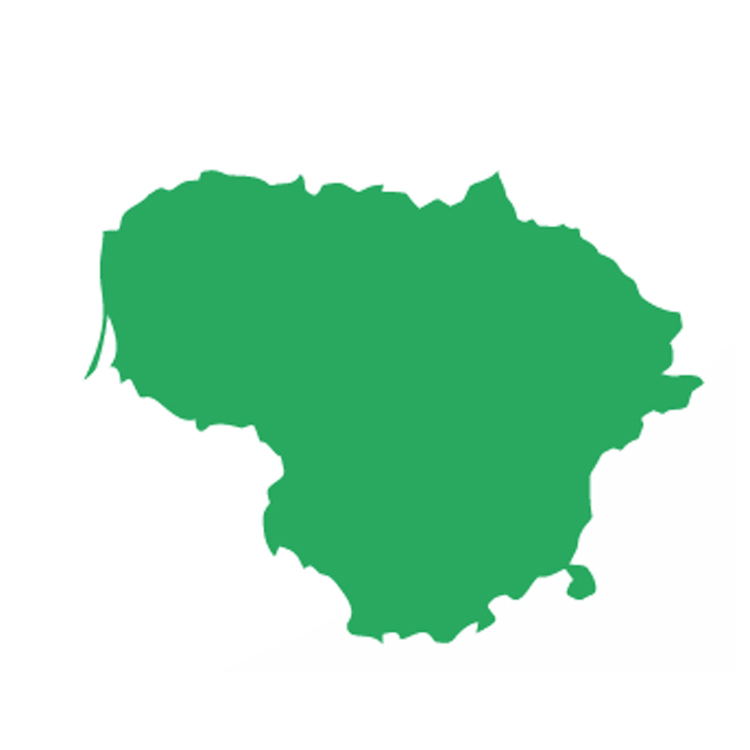 Lithuania Domestic Landscapes - Lithuania map vector