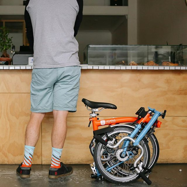 Sock game is strong at Treadly Bike Hire. Adelaide's most versatile and compact hire system. Book Now! Link in bio. . . . #foldingbike #bromptonbike #adelaide #ichoosesa #seesouthaustralia #treadlybikehire #mondayscoffee #athleticcommunity