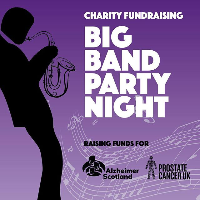 We are very proud 😍 to be involved with the Big Band Party Night in aid of @alzscot & @prostatecanceruk  We hope everyone has a fabulous night & lots of money is raised for these awesome charities!