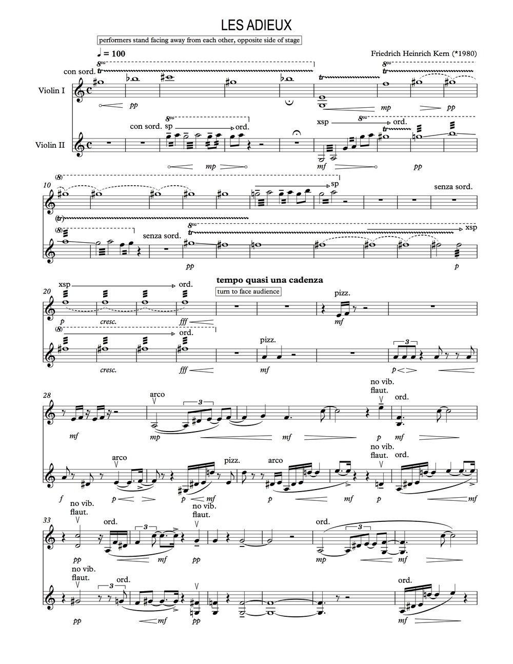 Friedrich Heinrich Kern - Les Adieux (Excerpt)