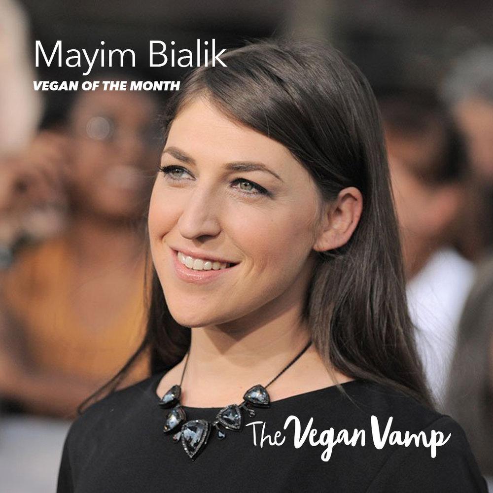 Vegan of the Month - Mayim Bialik