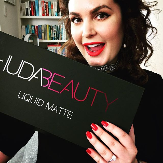 My Christmas wish came true times two! The @hudabeauty lip kit extravaganza and an engagement ring from @jimmy_reido #christmas #hudabeautyliquidmatte #engagementring