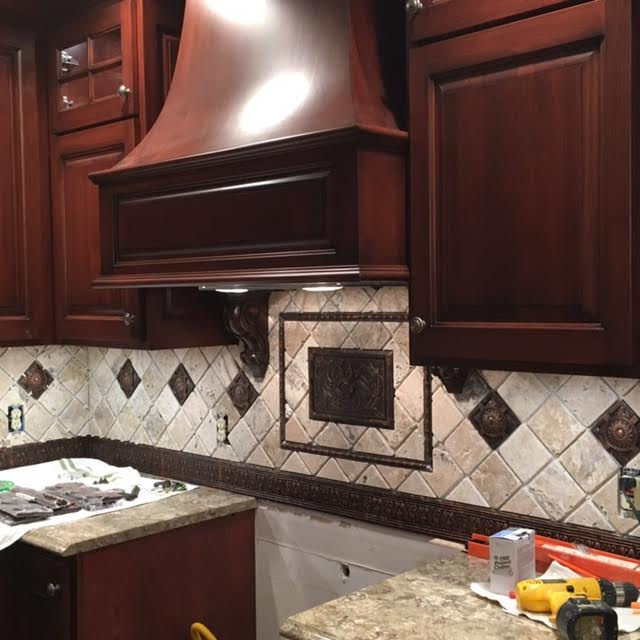Stain and Glaze Custom Kitchen