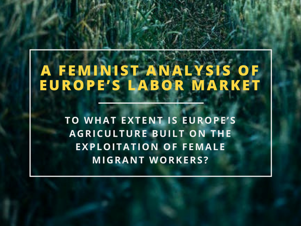 feminist analysis of europe's labor market exploitation of female migrant workers centre for feminist foreign policy miriam muller