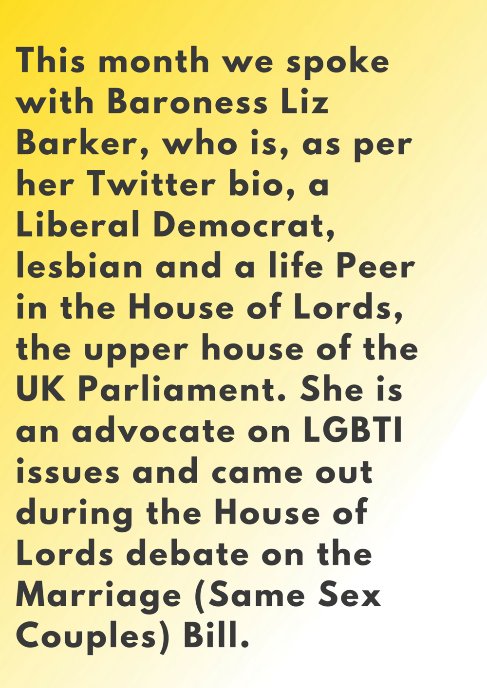 Baroness Barker Centre for Feminist Foreign Policy