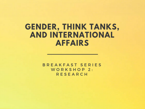 In a workshop on 26 September, 2018, hosted by the Centre for Feminist Foreign Policy, Chatham House, and BASIC, attendees across the international affairs and development sector gathered to consider how we can implement gender sensitivity in research forward into practical action.  The information gathered in these workshops will be turned into a toolkit, to be produced in 2019.