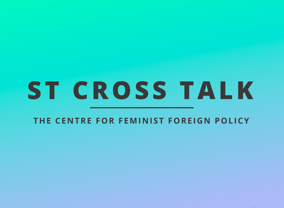 On May 8th 2018, the Centre for Feminist Foreign Policy (CFFP) brought together several panelists for a lively discussion on feminist foreign policy and diplomacy at the St. Cross College of the University of Oxford. With CFFP co-founder Kristina Lunz moderating, the panelists - Marissa Conway, Dr. Jennifer Cassidy and Sharinee Jagtiani - explored the evolution of feminist foreign policy, ethnocentrism in IR thought, and the fight to 'decolonise' foreign policy – starting with the reading lists.