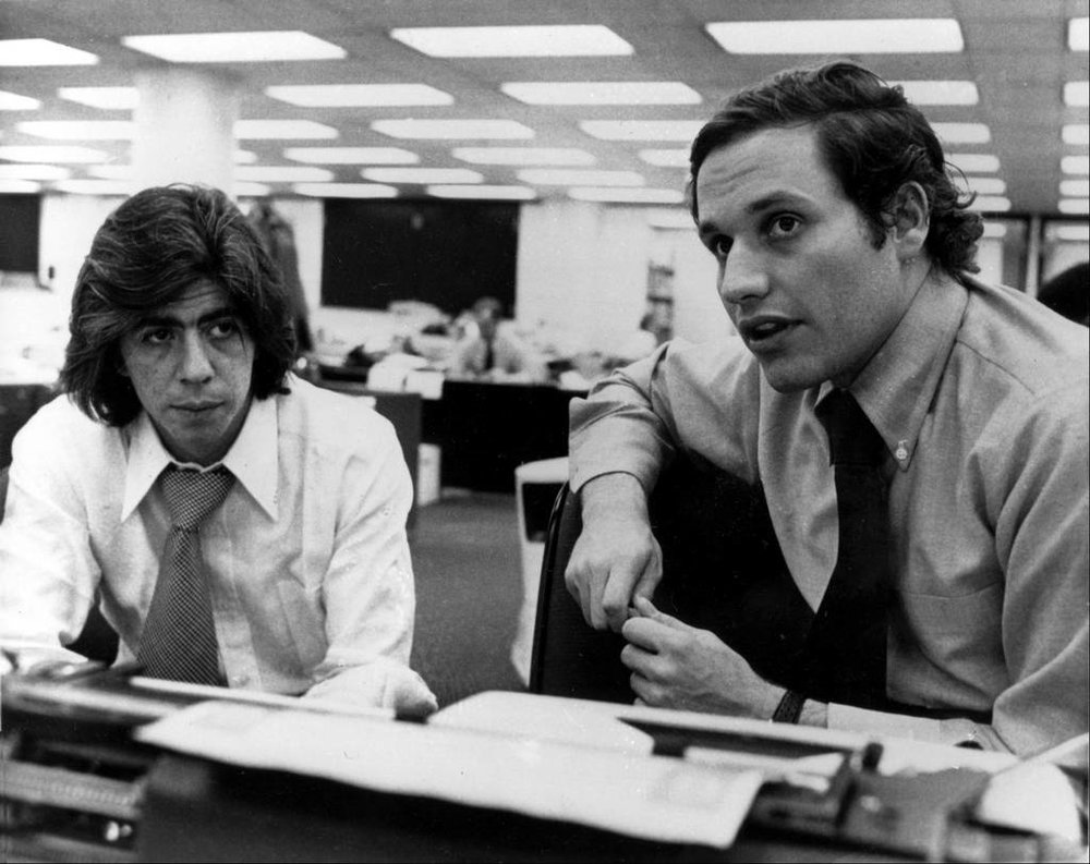 The real Carl Bernstein and Bob Woodward.