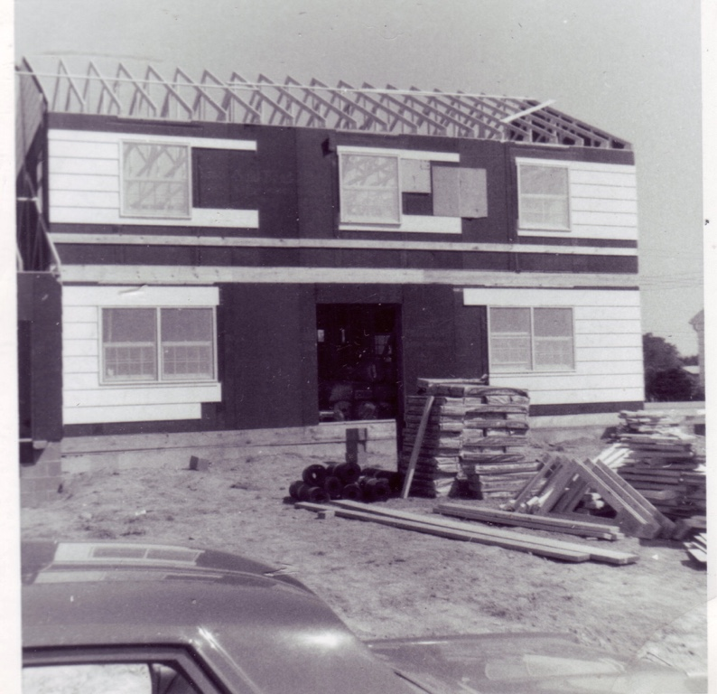 "The ""mansion"" being built."