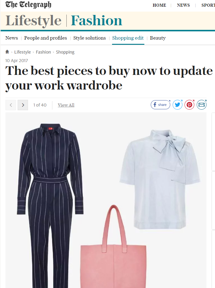 The Telegraph Fashion Online - 10th April 2017
