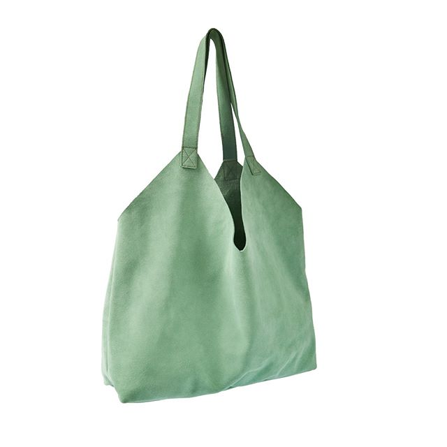 The XL Squishy V Suede Tote that fits EVERYTHING  #wolfandbadger  #presentsforher  #zwina