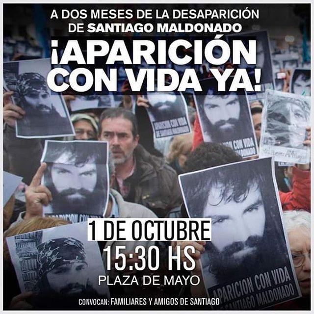A dos meses de su desaparición  en Argentina , en el mundo  seguimos preguntando¿Dónde está Santiago Maldonado?
