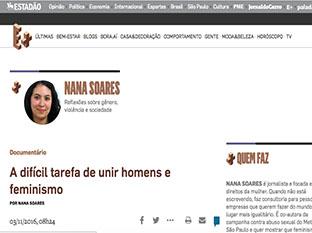 Estadão:   A difícil tarefa de unir homens e feminismo