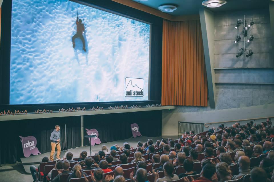 Ueli Steck oli HANin ensimmäinen kansainvälinen huippuesiintyjä, viime keväänä Himalajalla menehtynyt Sveitsiläinen täytti Bio Rexin äärimmilleen 2014.