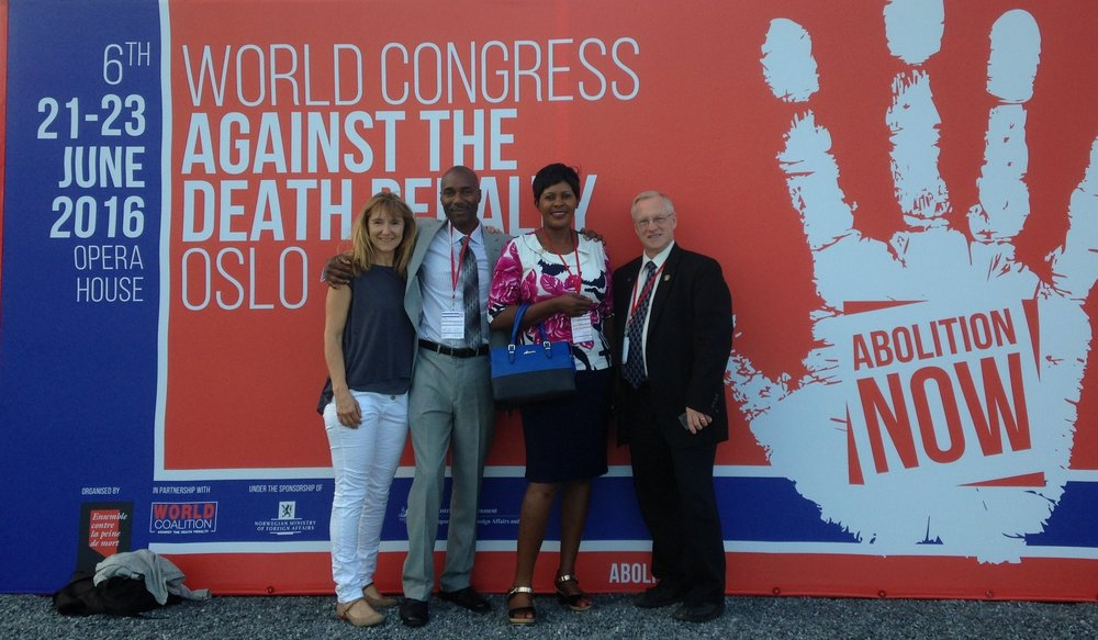 Susan representing APP in Oslo at the 6th World Congress Against the Death Penalty