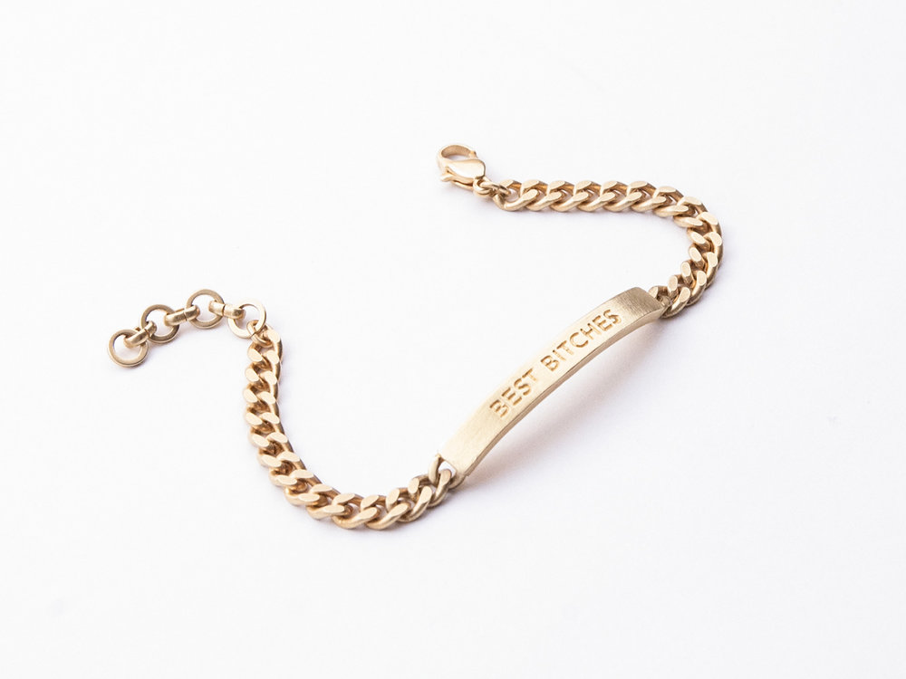 Best Bitches ID Bracelet  , $98