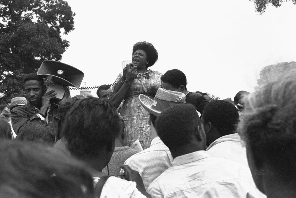 Fannie Lou Hamer, 1966 (Photo: William J. Smith)
