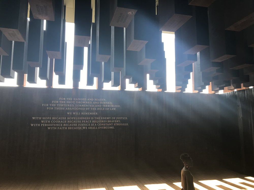 The National Memorial for Peace and Justice  in Montgomery, Alabama (Photo: Lauren Kirk)
