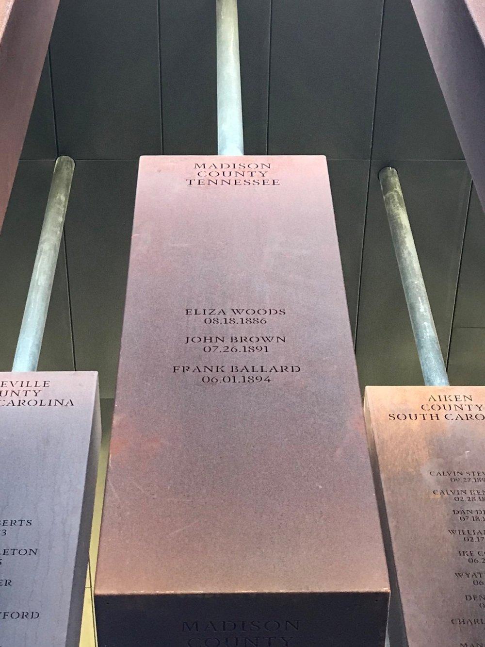Madison County EJI monument