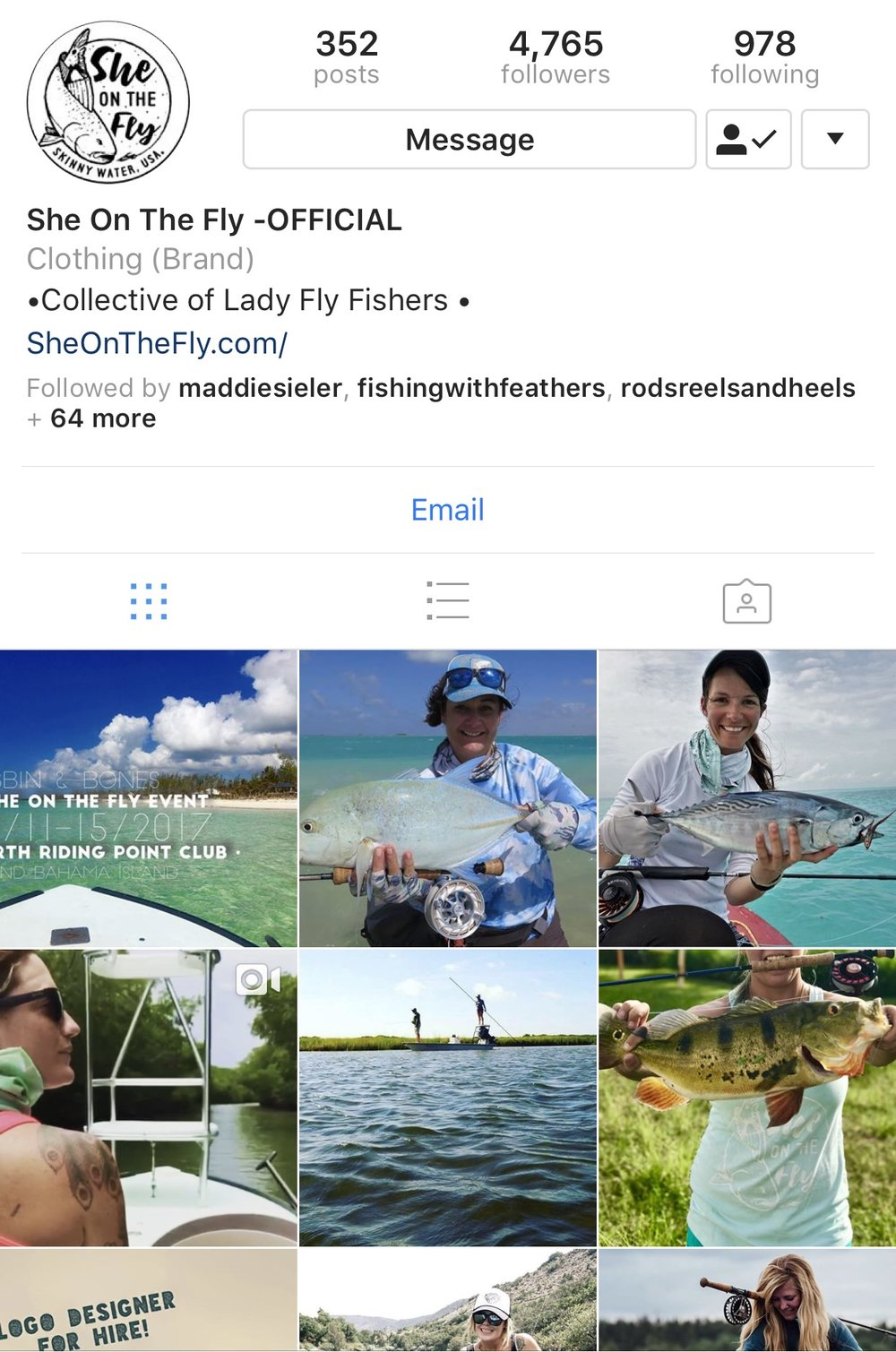 - Welcome to the official She On The Fly website. Our company was born in the winter months of 2016. The brand started as an idea with the intention of sharing, creating, and collaborating with other female anglers from around the globe. By 2017 we experienced some amazing growth and changes. Our mission will always be to uplift women, inspire them to learn more about the sport, from novice to expert. Over time our image and intention has taken an organic shift that has brought us many opportunities to get our message out there. SOTF now has the opportunity to sponsor charity events with merchandise, collaborate, create and promote  with some incredible companies in the industry.