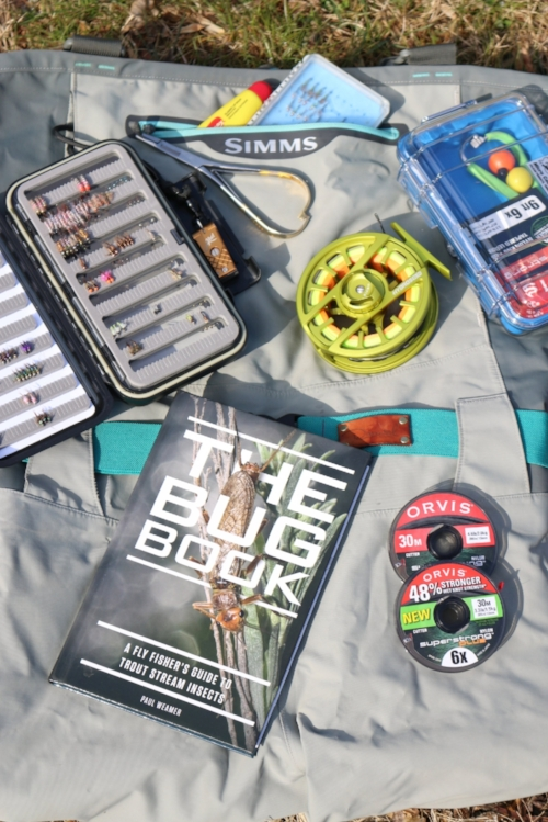 |  The Bug Book  |  Pelican Case  |  Reel  |  Waders  |  Wading Belt  |