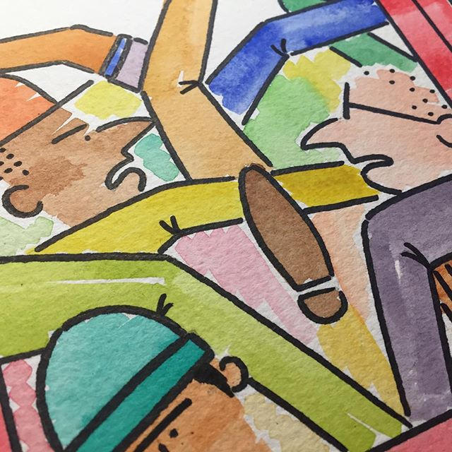 WIP... - - - - - - #jackramsay #skitcity #city #citylife #train #graphicnovel #graphicdesigner #train #london #londonunderground #subway #illustrator #illustration #art #artist #artwork #design #designer #handdrawn #pendrawing #watercolor #painting #painter #paint #fullcolour #comic #comics #cartoon #cartoonist #commute