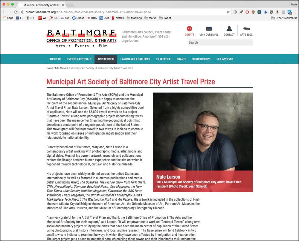 http://promotionandarts.org/arts-council/municipal-art-society-baltimore-city-artist-travel-prize