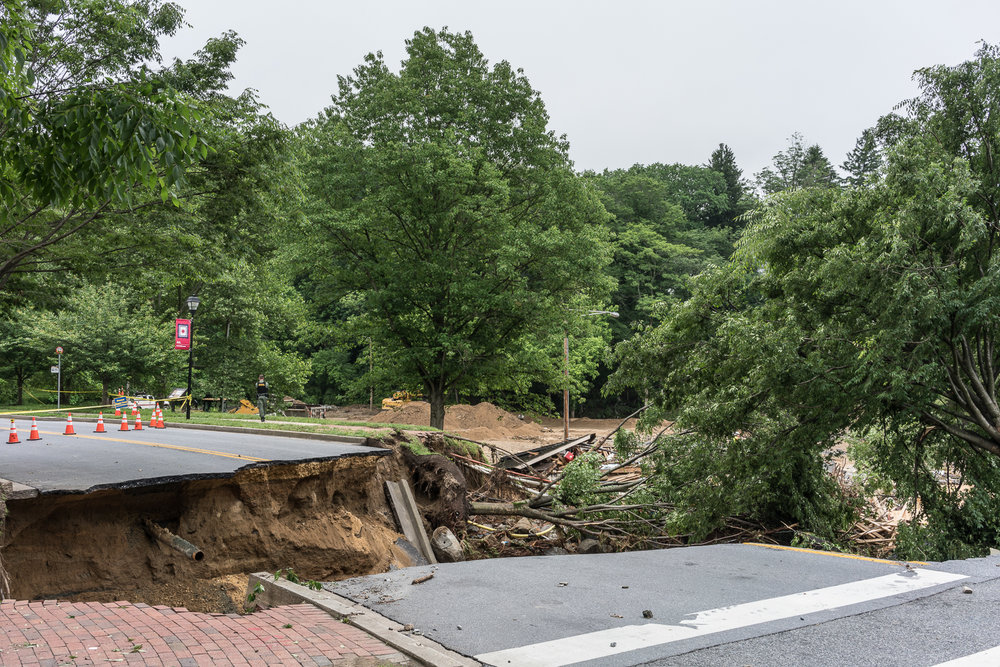 Road Broken by Flooding, Ellicott City, Maryland, 2018