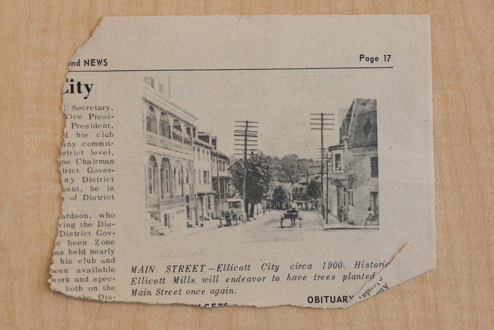 Main Street Circa 1900, Ellicott City, Maryland, 2017