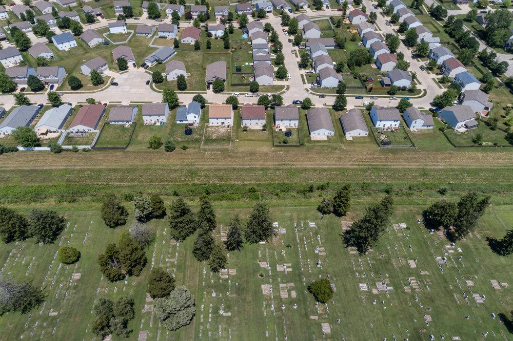 Cemetary & Subdivision, Mascoutah, Illinois, 2017