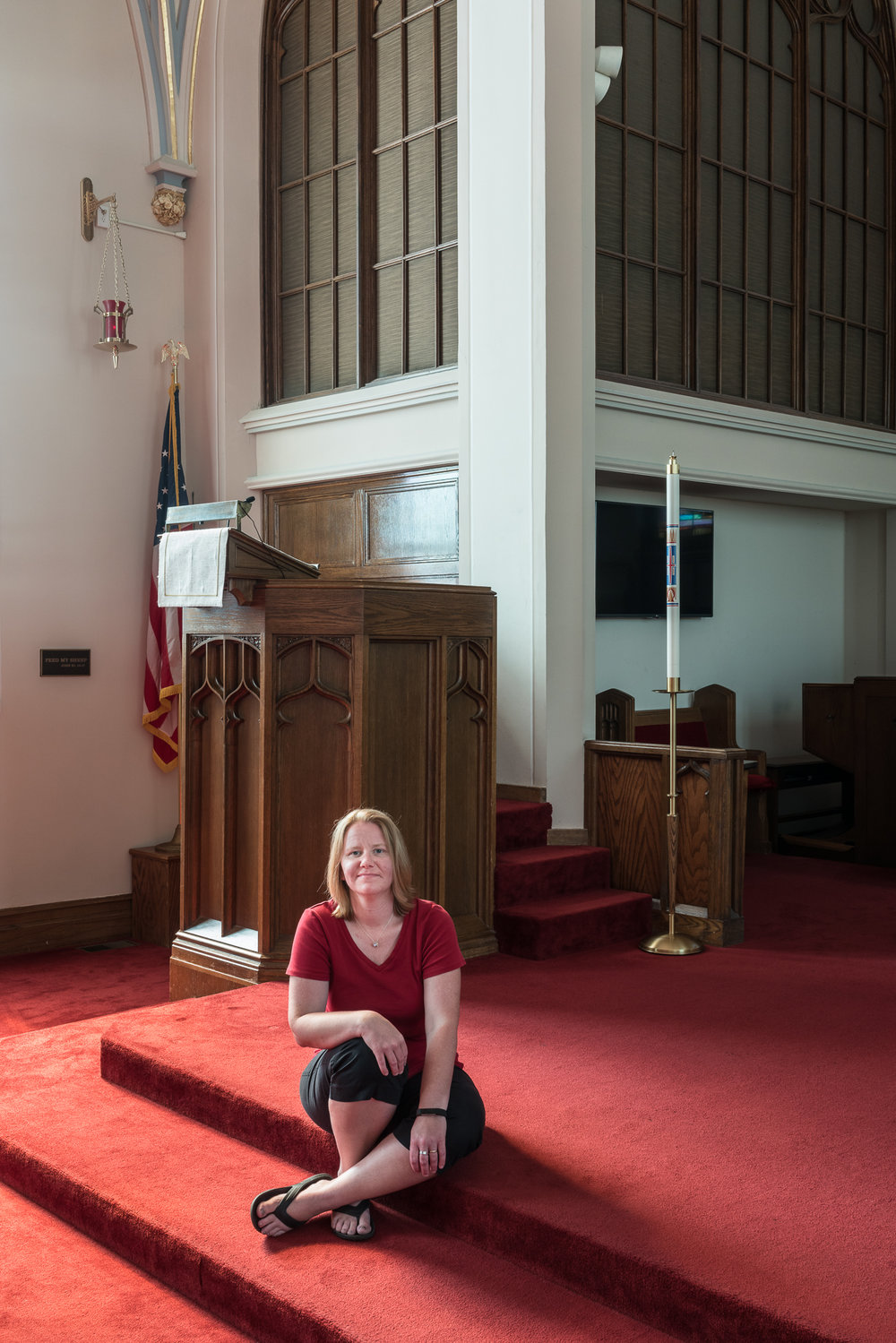 Rachael at St. John's Church, Mascoutah, Illinois, 2017