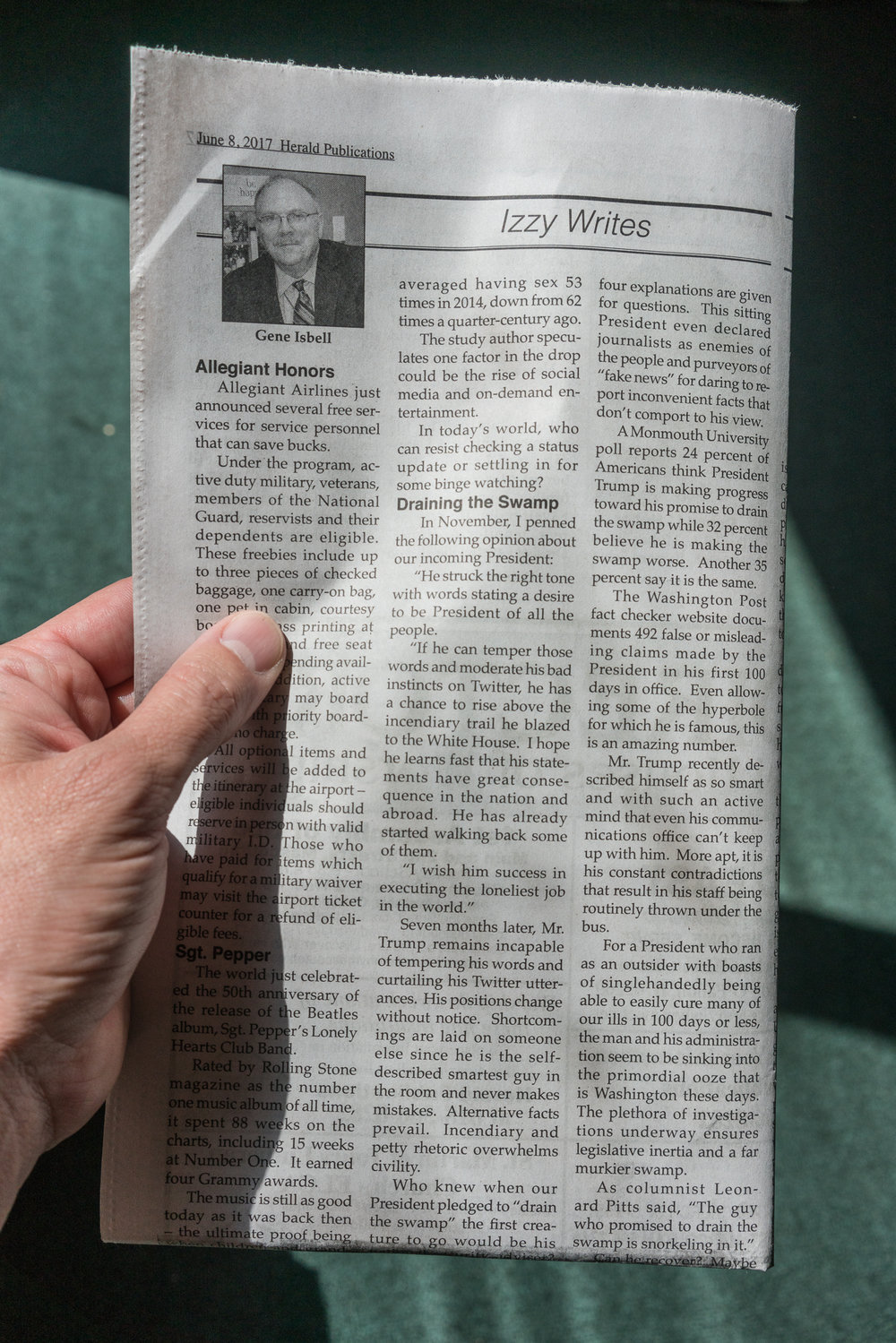 Gene's Column, Mascoutah, Illinois, 2017