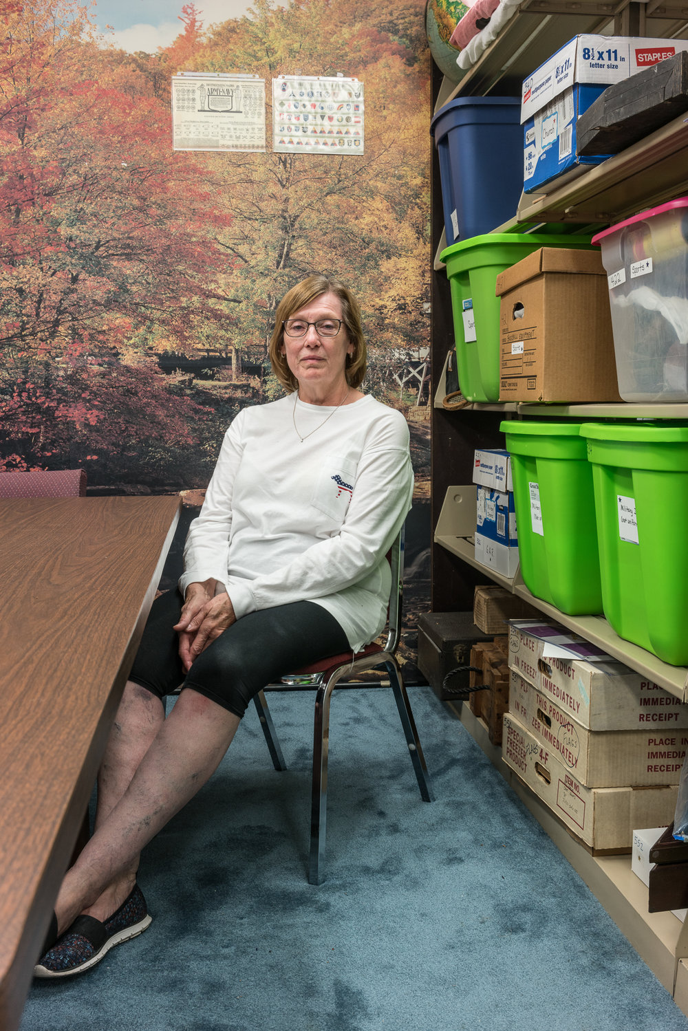 Kathy in the Archives, Mascoutah, Illinois, 2017