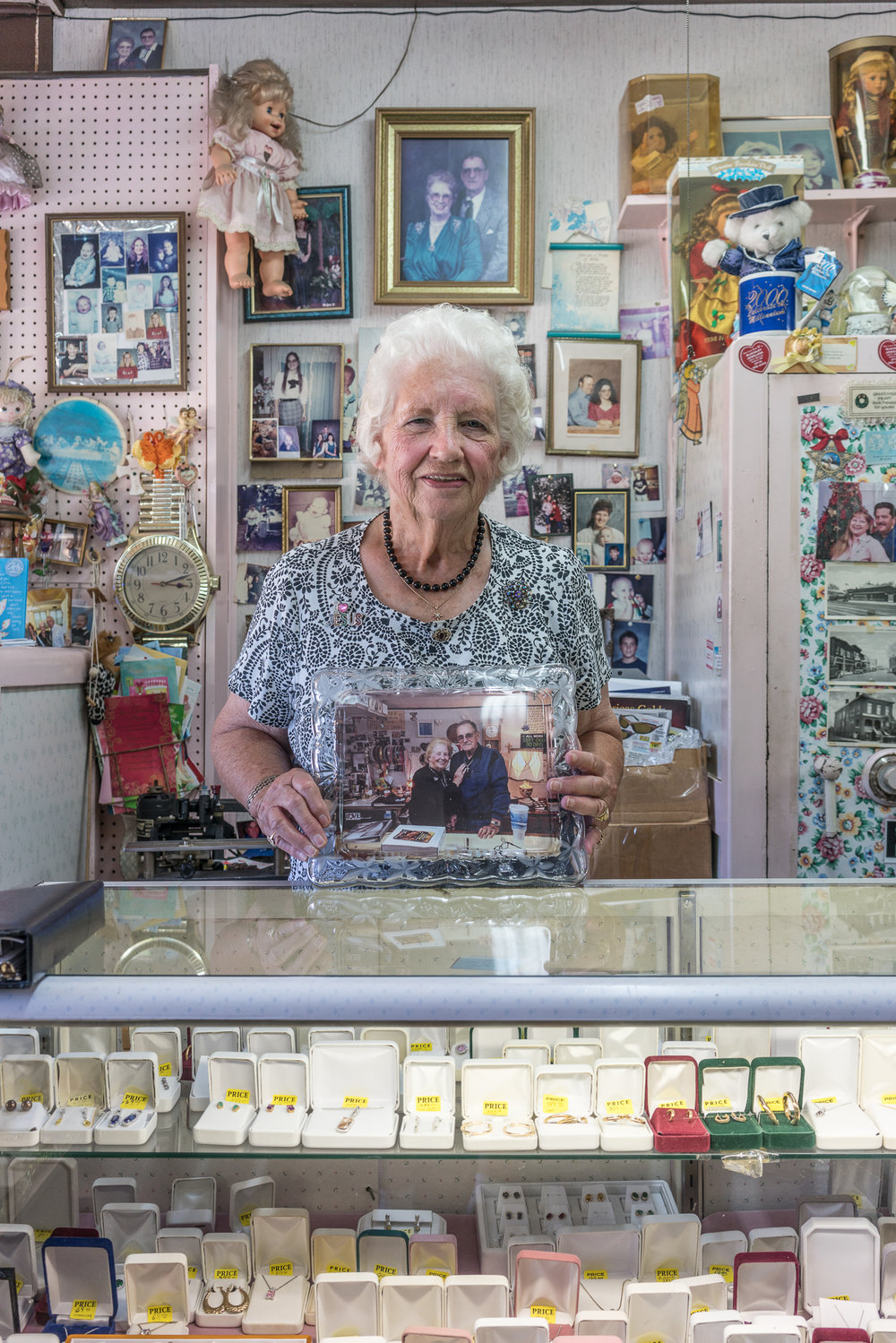 Carol at the Jewelry Shop, De Soto, Missouri, 2017