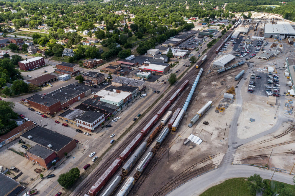 Main Street and Rail Yard, De Soto, Missouri, 2017